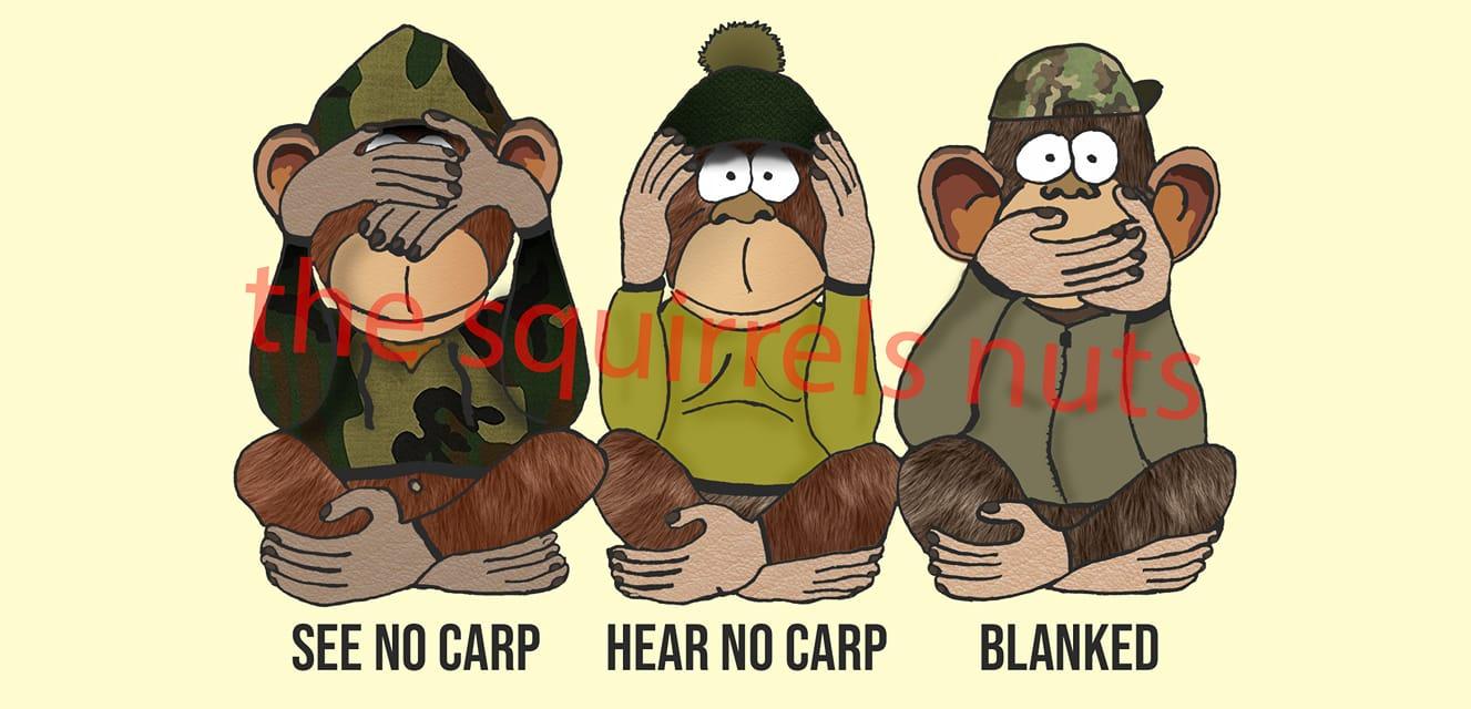 Three Unwise Monkeys Carp Fishing Mug Gift St Georges Flag,The Squirrels Nuts